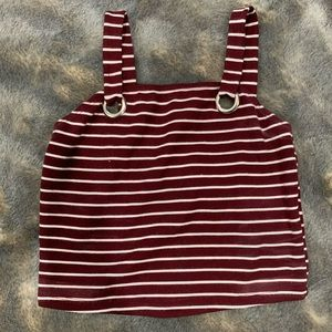 Striped basic crop top
